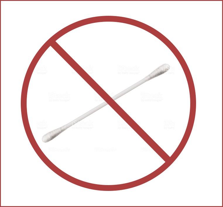 не используйте ватные палочки